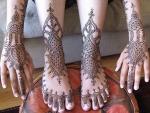 Рисунки хной на руках и ногах