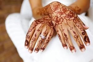 Рисунок хной на свадьбу