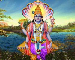 Индийский бог Вишну