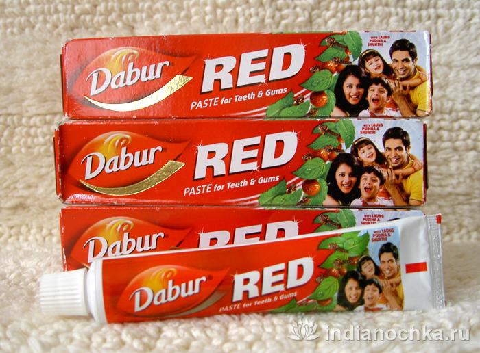 """Индийская зубная паста с перцем """"Red"""""""