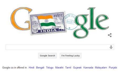 doodle в честь Дня Независимости Индии