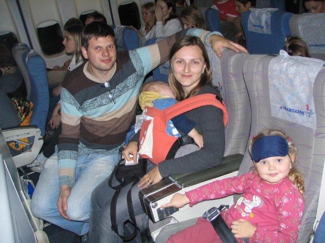 Перелет в самолете с ребенком