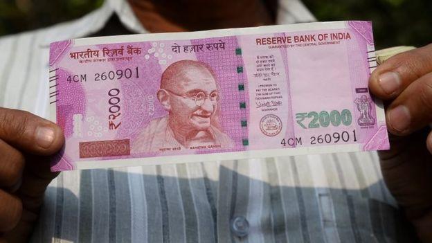 Новая банкнота номиналом 2000 рупии