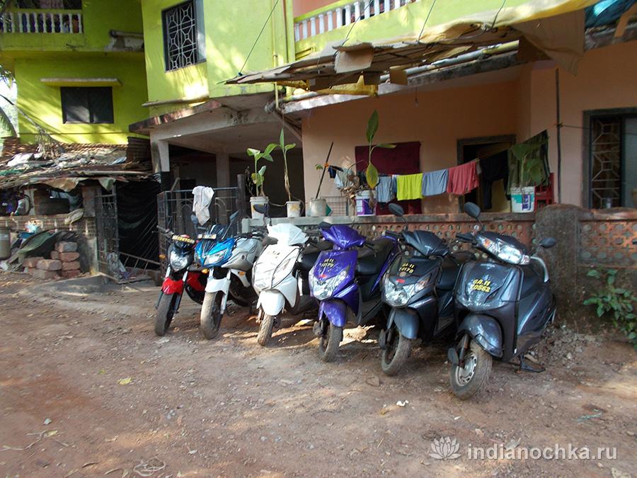 Взять напрокат скутер в Гоа