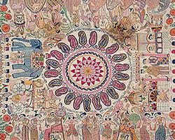 Кантха вышивка Индии