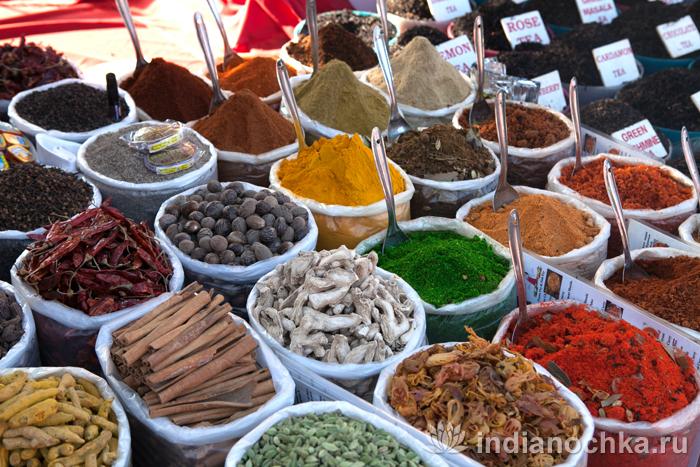 Специи на рынке Гоа