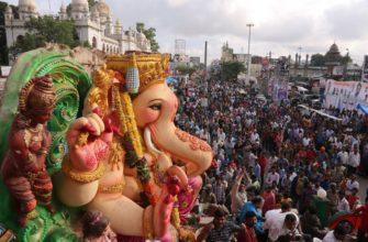 Фестиваль Ганеши в Индии