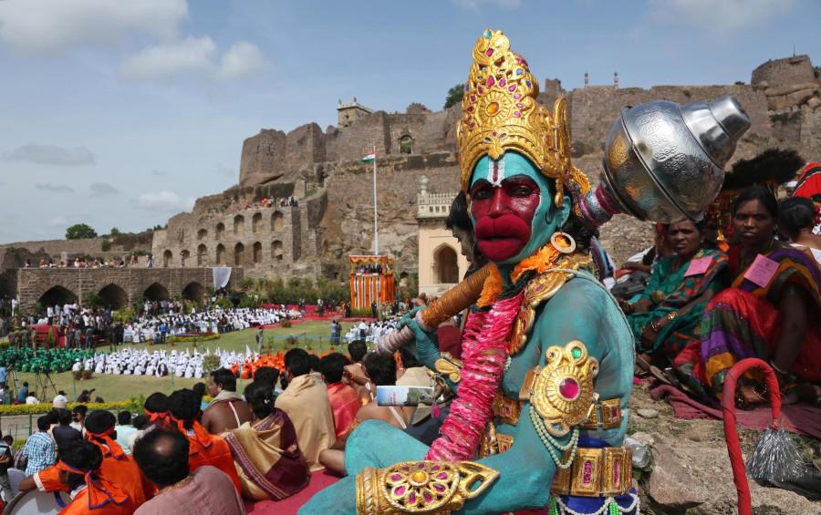 День независимости в Хайдабараде, Индия