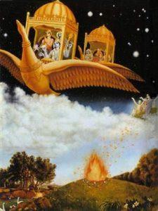 Брахма на божественном лебеде