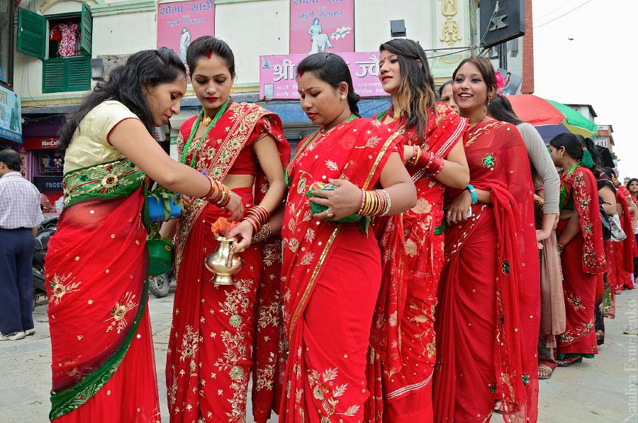 Праздник в честь Парвати в Индии