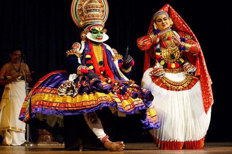 Катхакали в Тривандраме театр